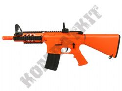 M805B1 M4 CQB Electric Airsoft BB Machine Gun Black and Orange